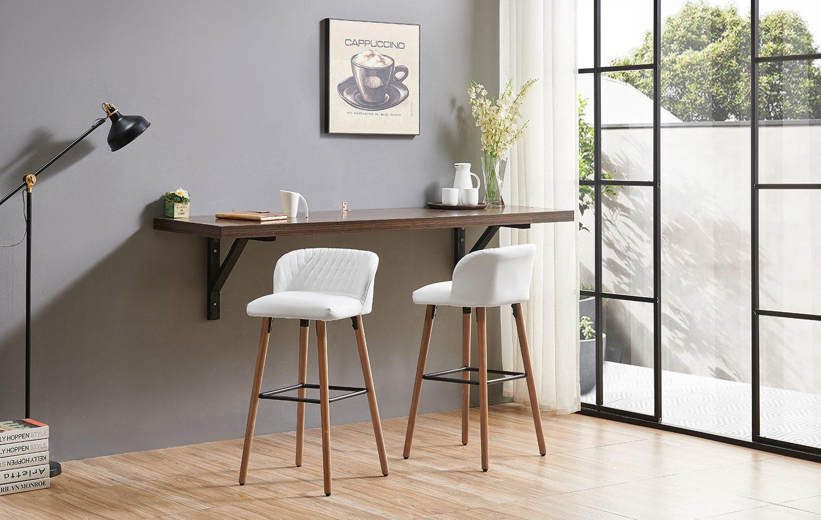 Барные стулья 2-169M-1 белые White