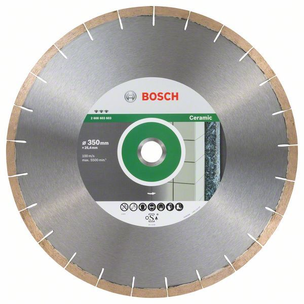 Алмазный диск Best for Ceramic & Stone 350x25.4мм Bosch 2608603603