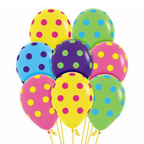 Букет из Воздушных шаров «Цветной Горох»