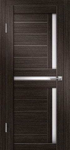 Дверь Porte Line 02, стекло снег, цвет венге, остекленная