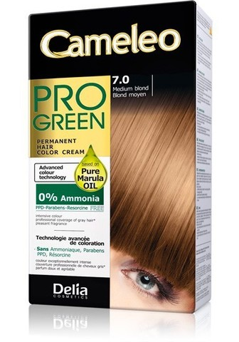 Delia Cosmetics Cameleo Pro Green Краска для волос тон 7.0 средний блондин