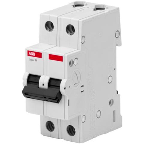 Автоматический выключатель 2-полюсный 10 A, тип C, 4,5 кА  BMS412C10. ABB. 2CDS642041R0104