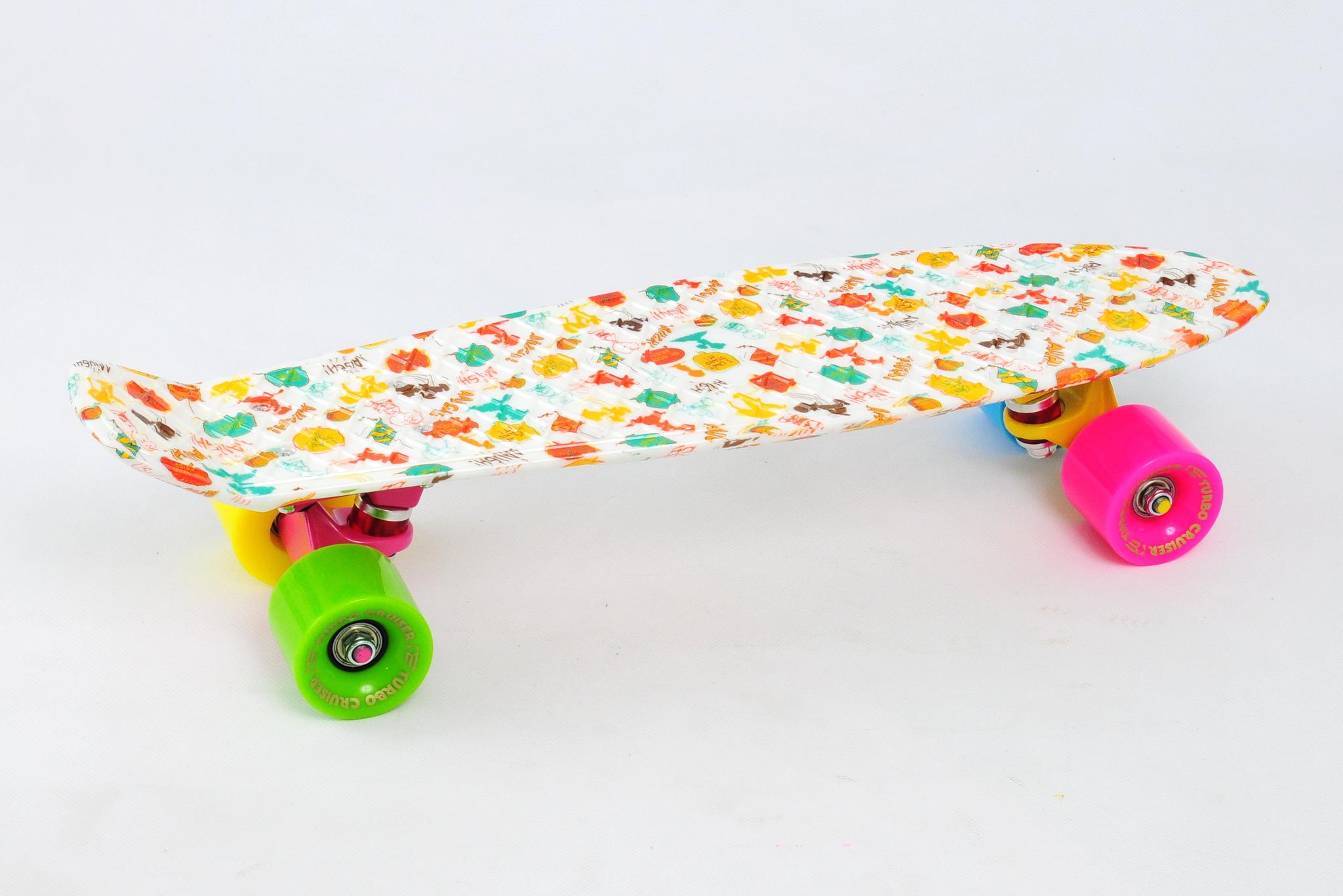 Скейтборд Turbo Cruiser пластиковый 007