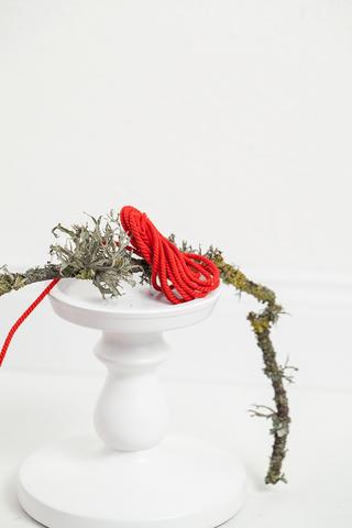 Хлопковый витой шнур красный 2 и 3 мм