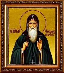 Феодор Печерский Преподобномученик. Икона на холсте.