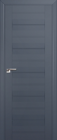 > Экошпон Profil Doors № 48 U, стекло графит, цвет антрацит, остекленная