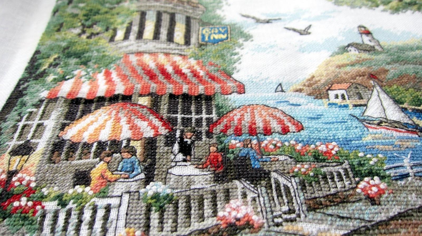 Набор для вышивания. Cafe by the Sea. Кафе у моря. Арт. 35157