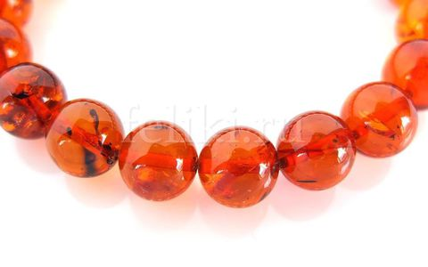 браслет из натурального янтаря, диаметр шариков 10 мм