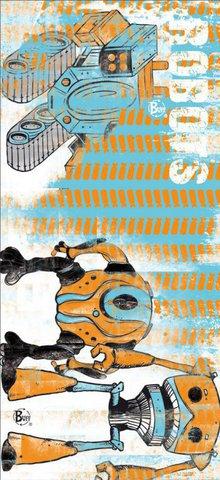 Многофункциональная бандана-труба детская Buff Robots