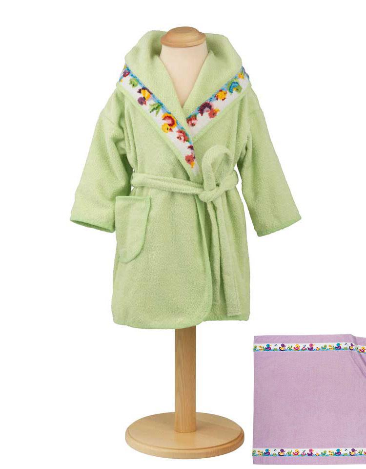 Элитный халат детский шенилловый Entchen лиловый от Feiler