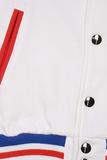 Бомбер белый на кнопках фото 2