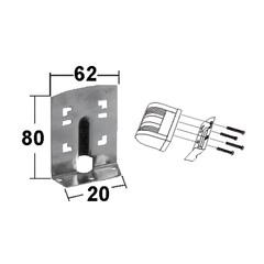 Кронштейн 80х62х20 мм, для стойки 006113