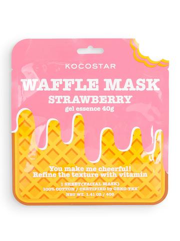 KOCOSTAR | Тонизирующая вафельная маска для лица «Клубничный фреш»