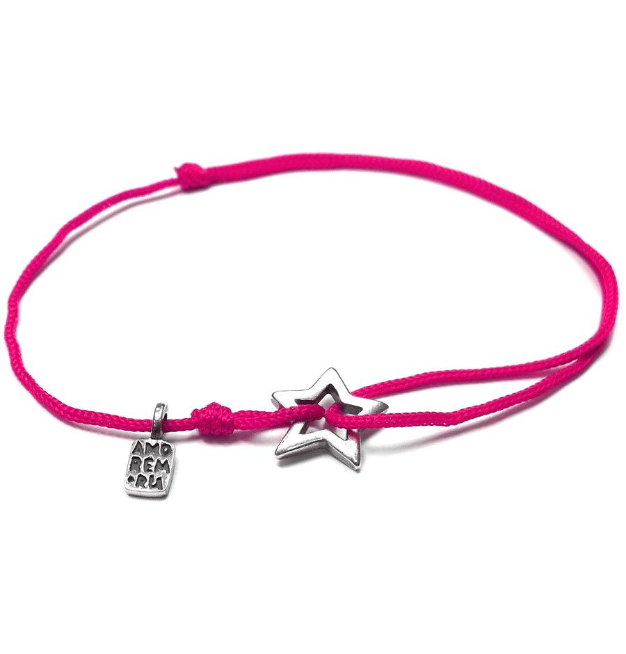 Star bracelet, sterling silver