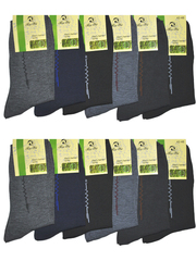 8424 BOYI носки мужские 42-48 (12шт), цветные