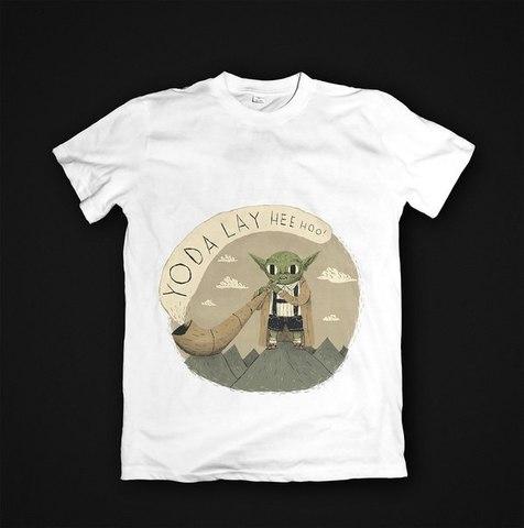 Футболка Yoda - S. Женская
