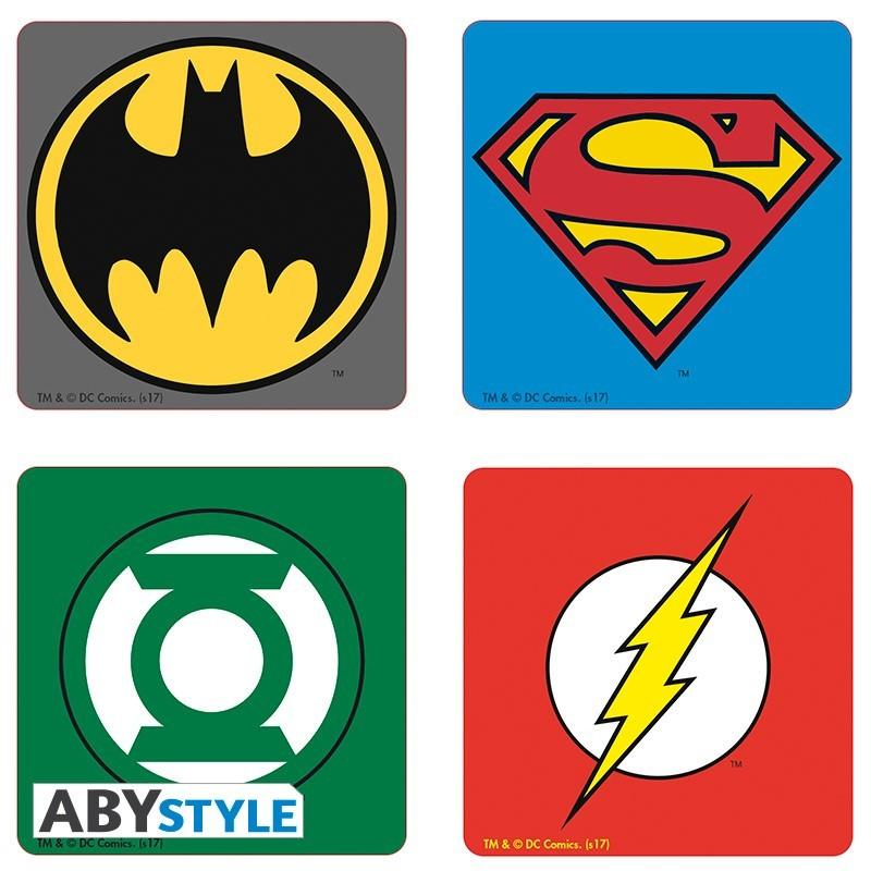 Подставки под напитки ABYstyle: DC COMICS: Emblem (4шт.) ABYCOS005