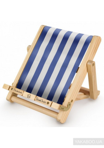 Deckchair Book Chair: Stripy Blue