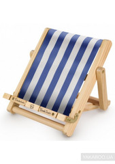 Deckchair Book Chair: Stripy Blue