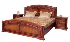 Кровать Валенсия 200x180 (С05) — Тёмный орех (MK-1741-DN)