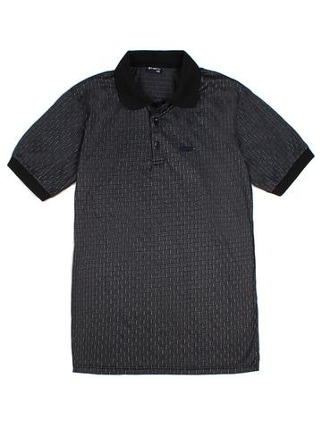 14055-1 поло мужское, темно-серое