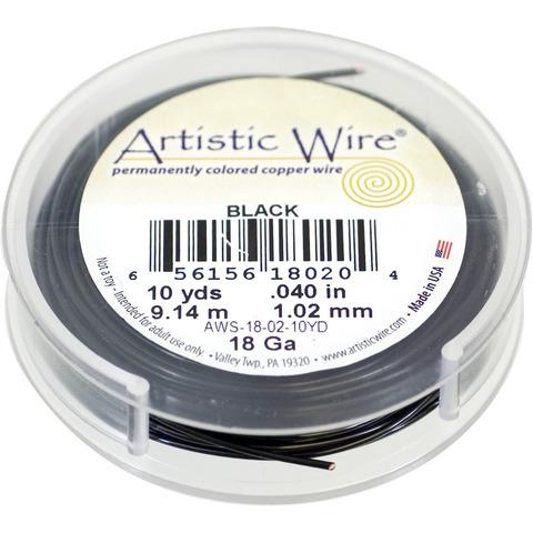 Проволока Artistic Wire 18 Ga (1.024 мм) Black