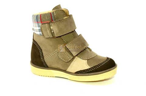Ботинки для мальчиков Лель (LEL) на байке из натуральной кожи цвет коричневый. Изображение 2 из 14.