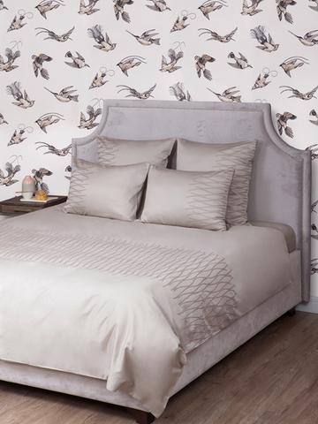 Постельное белье 2 спальное евро Bovi Kioto серо-бежевое