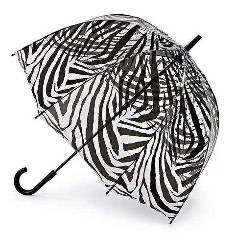 Зонт трость женский Fulton (Зебра)