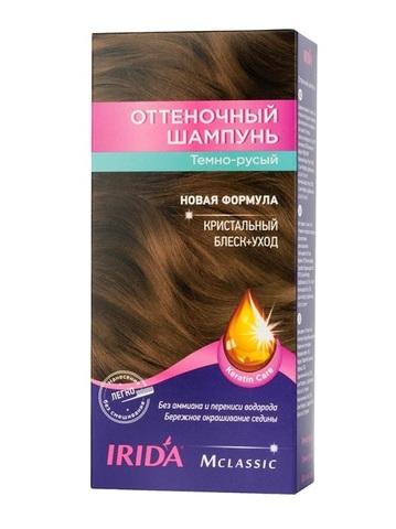 Irida Irida М classic Оттеночный шампунь для окраски волос Темно-русый 3*25мл