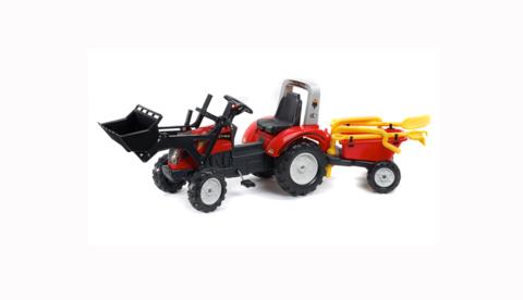 Трактор-экскаватор педальный с прицепом RANCH TRAC 1051RM