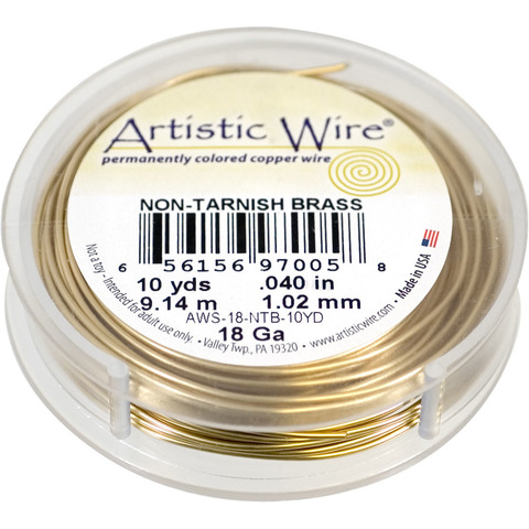 Проволока Artistic Wire 18 Ga (1.024 мм) Non-Tarnish Brass