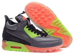 Кроссовки Мужские Nike Air Max 90 Sneakerboot Grey Orange Green