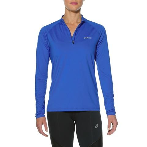 Asics LS 1/2 Zip Top Женская беговая рубашка синяя
