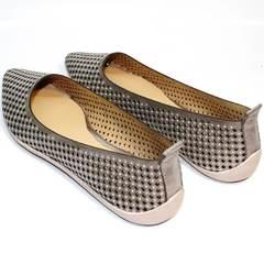 Летняя обувь балетки Kluchini 5218 k 365 Titan.