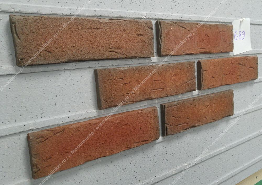 Плитка-клинкер под кирпич Feldhaus Klinker, Sintra, R689NF14, ручная формовка, ardor