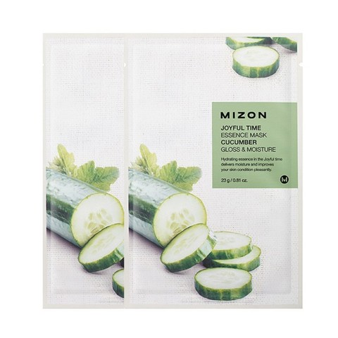 MIZON  Маска с экстрактом огурца  joyful time essence mask cucumber 23 g