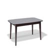 Стол кухонный KENNER 1200М, раздвижной, стекло серый, подстолье венге