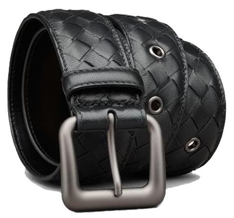 Мужской ремень Bottega Veneta Black качества ЛЮКС