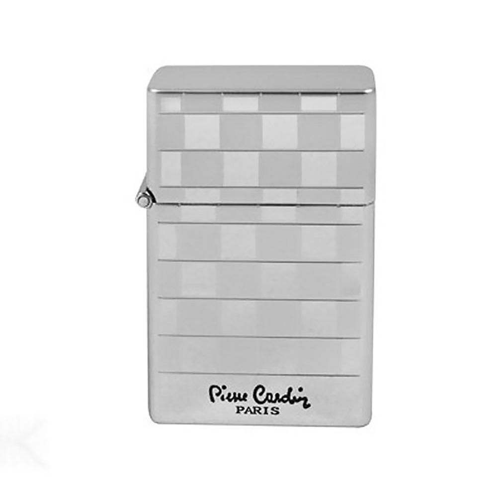 Зажигалка Pierre Cardin газовая турбо, цвет хром в шашку, 3,6х1,3х5,5см