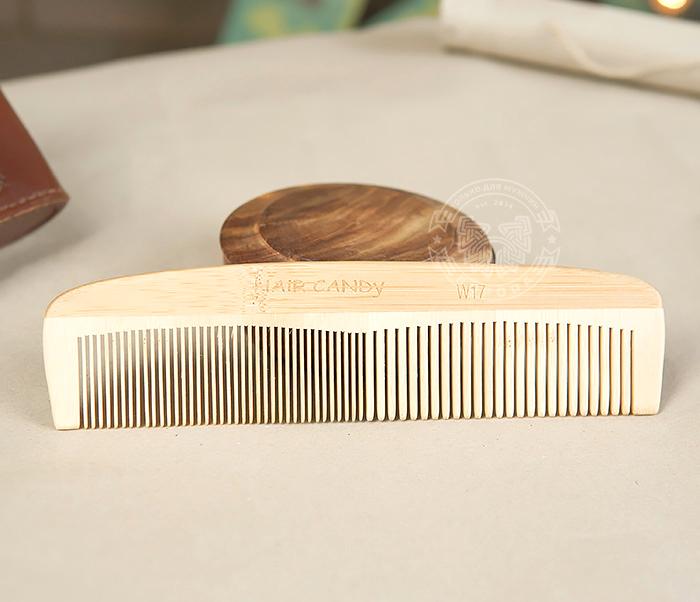 RAZ228 Крупная расческа из клееного дерева разных пород