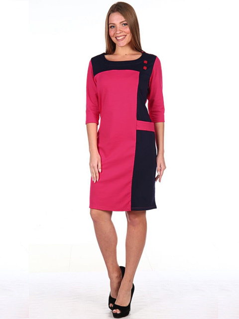 27A Платье женское, розово-синее
