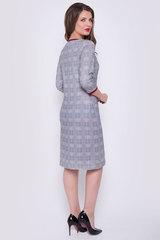 Элегантное платье прямого силуэта с карманами. Рукав 3/4 Длина: 44-50р - 96-102см