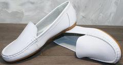 Летние мокасины женские AESD 902 White