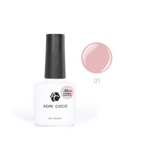 Гель-лак ADRICOCO Allure сream №01 камуфлирующий розовый (8 мл.)