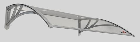 Погонаж - Козырёк (1) Форпост «АЛМАЗ-1500» D1500 A-S  для входной двери, цвет прозрачный