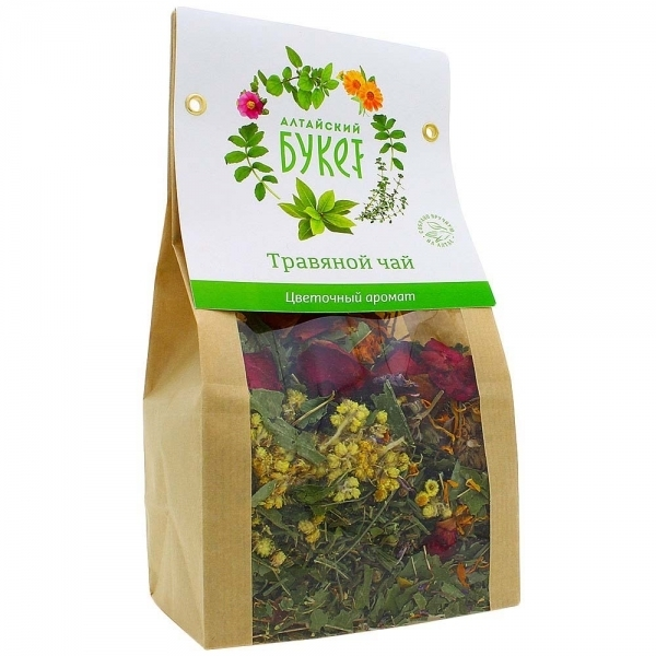 Чай травяной, Алтайский букет, Цветочный аромат, 80 г.