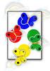 Бабочки. Четыре цвета. Развивающие игры на липучках Frenchoponcho (Френчопончо)