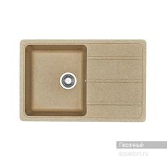 Мойка Акватон Аманда 1A712832AD220 для кухни из искусственного камня, цвет песочный