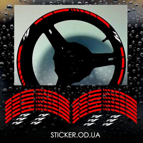 Комплект  наклеек на диски Yamaha R1